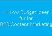 50 B2B Content Marketing_11 Low Budget Ideen