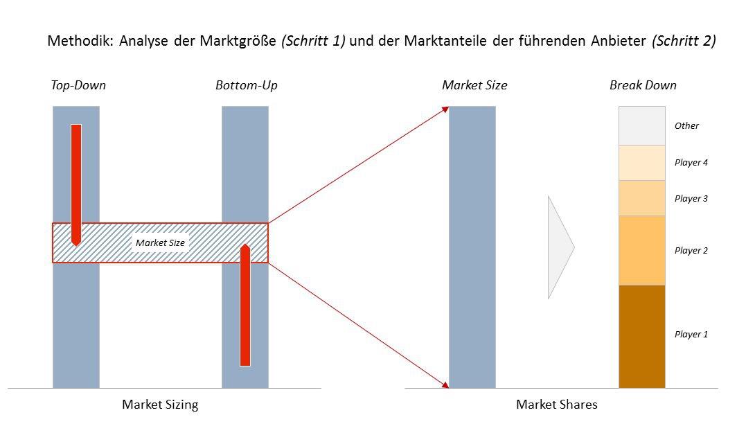 Übersicht Methodik: Analyse Marktvolumia und Marktanteile der Top-Player