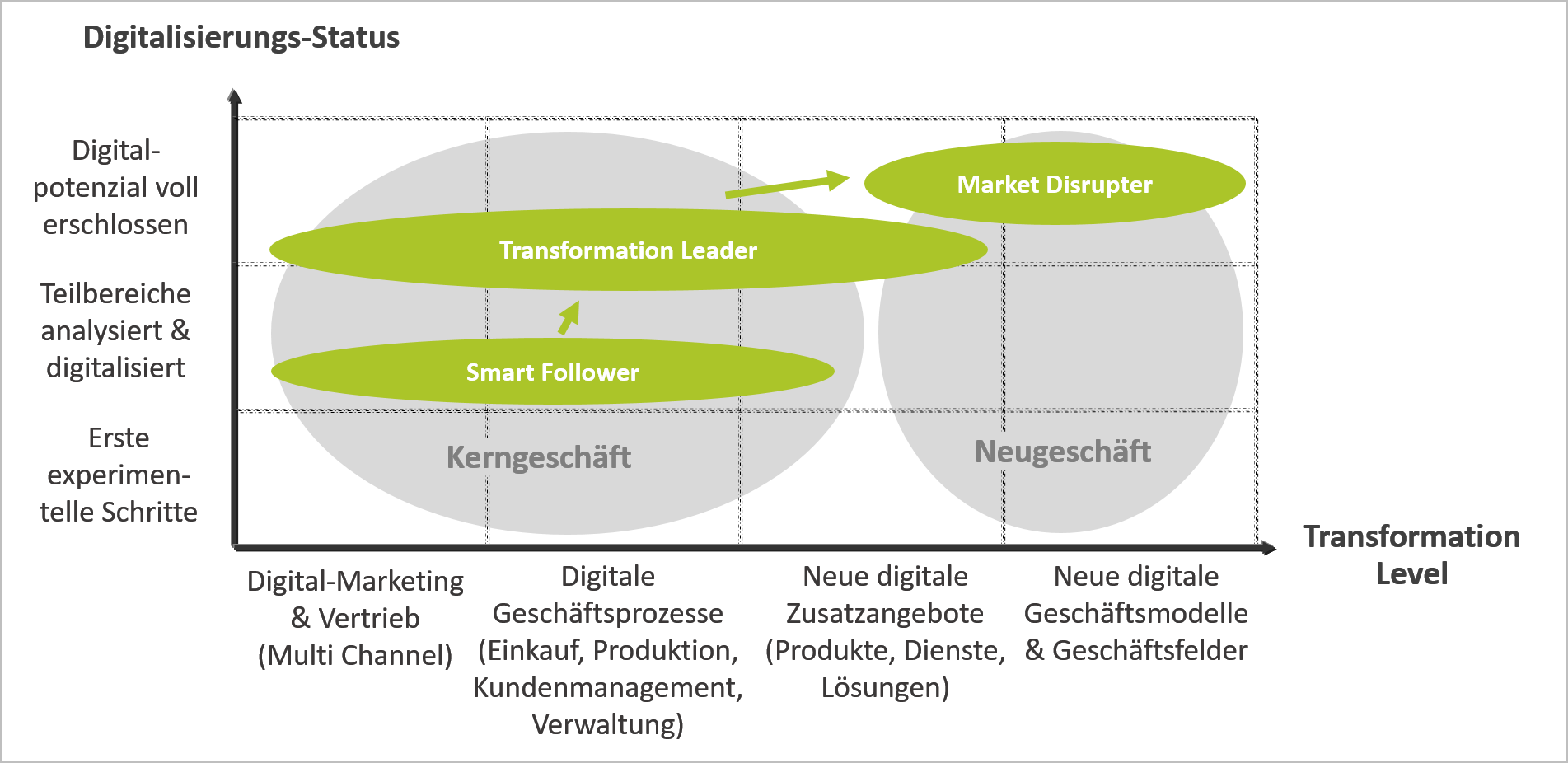 Strategie-Optionen für die Digitale Transformation (© 1stMOVER 2018)